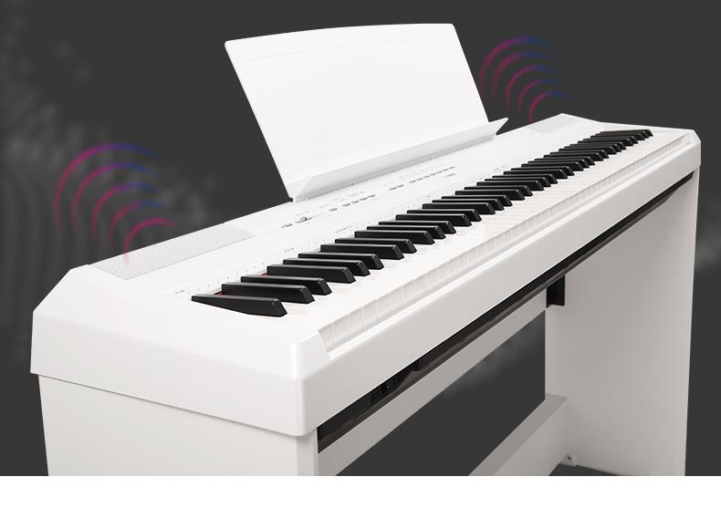 电子键盘雅马哈电钢琴雅马哈电钢琴p125更大的复音数在钢琴演奏图片
