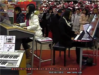 雅马哈电钢琴弹奏莫扎特,雅马哈双排键伴奏